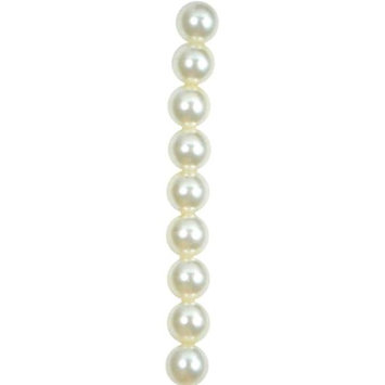 Expo International, Inc Expo Round Pearl Glass Beads Pack of 55