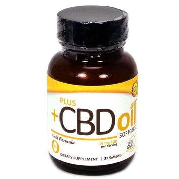 Plus CBD Oil 375707 30 SFG CBD Oil Gold Softgels 15 mg - Case of 12