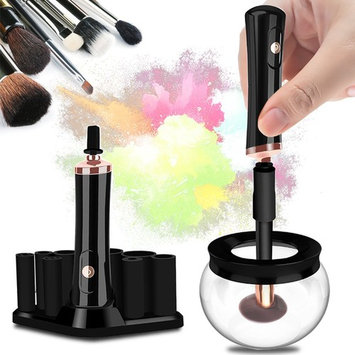 Makeup Brush Cleaner, Portable Electronic Automatic- TYRONE 10 Seconds Quick Drying (Black)