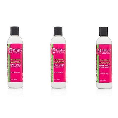 [ VALUE PACK OF 3] Mielle Organics Moisturizing Avocado 8-ounce Hair Milk : Beauty