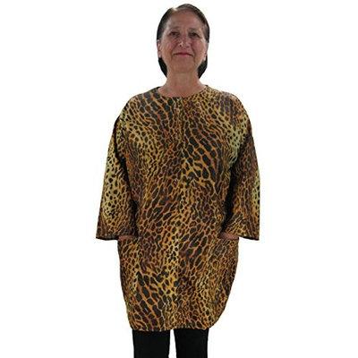 Plus Size Hair Stylist Smock Cheetah Animal Print