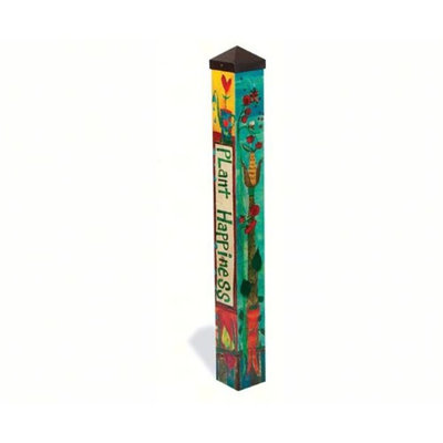 Magnet Works Ltd. MAILPP226 Plant Happiness 3 ft Art Pole 4x4 + Freight