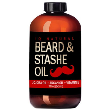 Iq Natural Beard Oil for Men Care - Leave in Beard Conditioner, Heavy Duty Beard Wax, Mustache Butter & Softener - for Styling, Shaping, Grooming & Growth