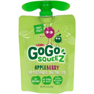 GoGo squeeZ Apple Berry Applesauce On the Go Pouches, 3.2 oz, 4 count, (Pack of 12)