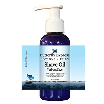 LeAboutFace Shave Oil 4oz - by Butterfly Express