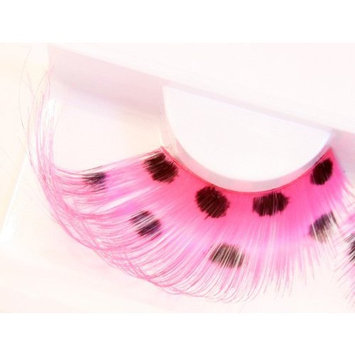 Zinkcolor Pink Polka Dots False Synthetic Eyelashes W592 Dance Halloween Costume