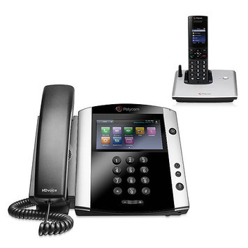 Polycom 2200-44600-001 w/ One Handset VVX 600 Business Media Phone with AC Power Supply