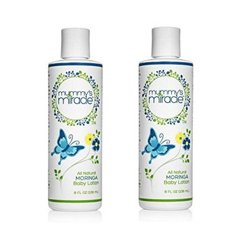 Hypoallergenic, All Natural Mummy's Miracle Moringa Baby Lotion 8 oz - Pack of 2