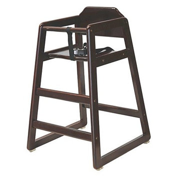 LA Baby Commercial/Restaurant Wooden High Chair, Cherry