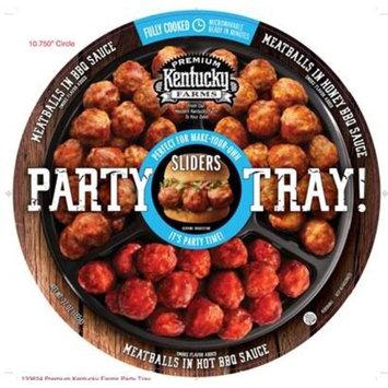 Premium Kentucky Farms Party Tray with Meatballs in BBQ Sauce, Meatballs in Honey BBQ Sauce & Meatballs in Hot BBQ Sauce, 27oz