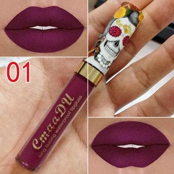 Ouyilu Quick Dry Matte Lip Paint Long Lasting Vintage Style Soft Lip Liquid Lipstick Lip Gloss