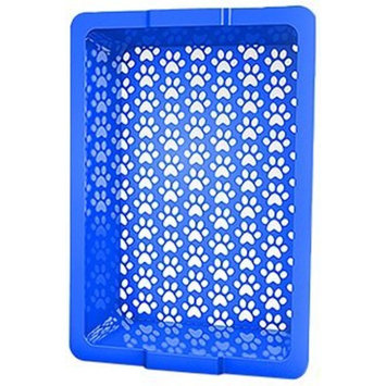 Shake and Rake 17 by 14 by 5-Inch Recyclable Plastic Manual Cat Litter Sifter, Blue