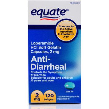 Equate Anti-Diarrheal Loperamide Hydrochloride Softgels, 2 mg, 120 Ct