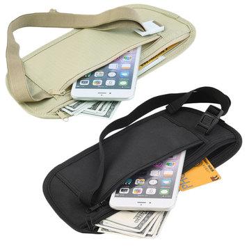 Travel Pouch Cash Zippered Waist Compact Security Money Waist Belt Bag