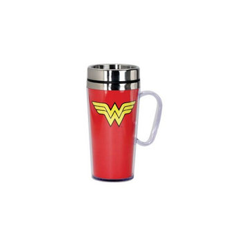 Spoontiques Wonder Woman Red Travel Mug with Handle