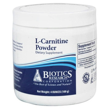 Biotics Research L-Carnitine Powder 100 grams