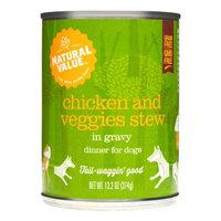 Natural Value Non-GMO Dog Food, Chicken & Veggies Stew, 13.2 Oz, 12 Ct