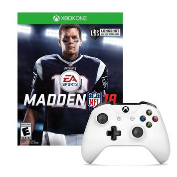 Microsoft Xbox One Controller in White with Madden NFL18