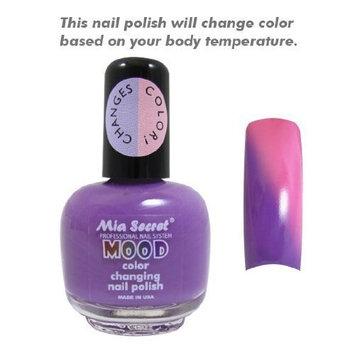 Mia Secret Mood Nail Lacquer Color Changing Nail Polish Purple to Pink