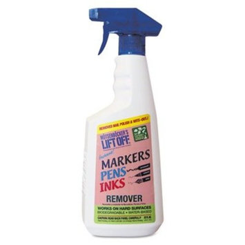 Motsenbockers Liftoff Water-based Ink Stain Remover - Liquid Solution - 22 fl oz (0.7 quart)Bottle