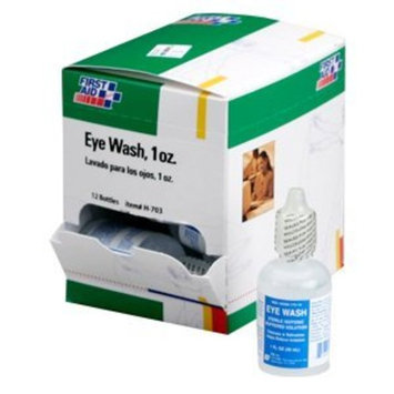 First Aid Only Eyewash, 1-Ounce. Plastic Bottle, 12-Count Boxes