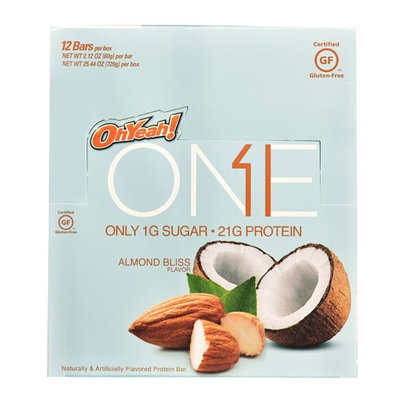 Oh Yeah ISS Research OhYeah!® ONE Protein Bar Almond Bliss - 12 Bars pack of 4