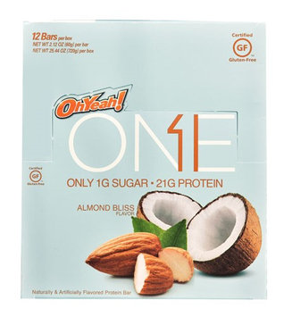 Oh Yeah ISS Research OhYeah!® ONE Protein Bar Almond Bliss - 12 Bars pack of 3