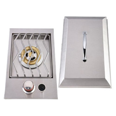 Sunstone Drop-In Single Side 8-in Electronic Ignition Outdoor Burner 1SSB-NG