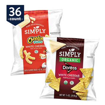 Simply Doritos & Cheetos Mix Variety Snack Pack, 0.875 oz Bags, 36 Count