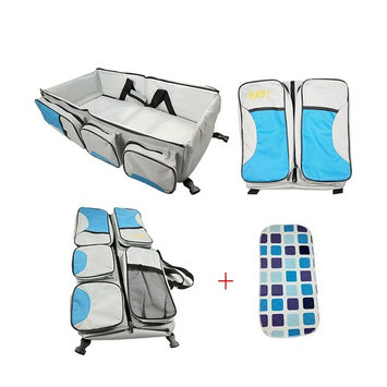 Portable Travel Bassinet, 3 in 1 Multipurpose Baby Diaper Bag, Premium Foldable Changing Pad Station for Infant, with a Free Waterproof Changing Mat, Perfect Baby Shower Gift for Newborns