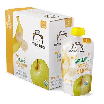 Amazon Brand - Mama Bear Organic Baby Food, Stage 2, Apple Banana, 4 Ounce Pouch