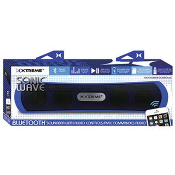 Etcbuys Blue Sonic Wave Bluetooth Sound Bar