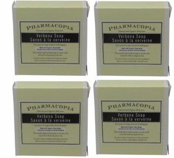 Pharmacopia Verbena Body Soap lot of 1.5oz bars. Total of 6oz (Pack of 4)