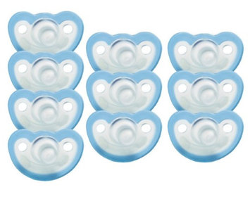 JollyPop Silicone Pacifier - 0-3 Months - Unscented - Blue - 10 Pack
