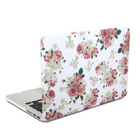 Se7enline Cute Dreamlike and Fancy Rubberized Frosted Soft Touch Hard Shell Case Cover for Macbook Air 13.3 inch (Models: A1369, A1466),with Black Silicon Keyboard Protector and Clear LCD Screen Protector for student,pupil,child,women,girl,boy,children,teenager, Countryside Style Rural Shivering Flower