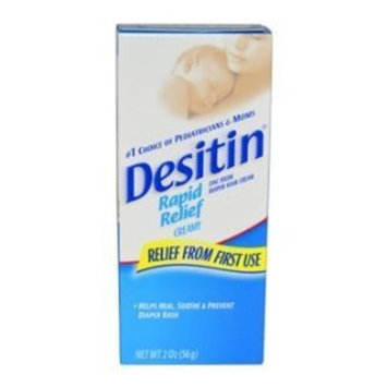 Desitin Rapid Relief Diaper Rash Creamy Ointment 2oz Each