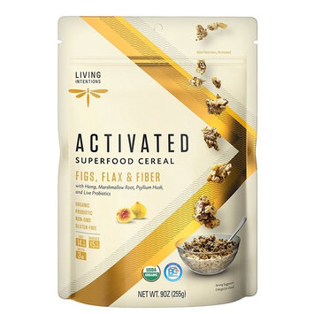 Living Intentions Activated Superfood Cereal, Gluten Free, Vegan, Organic, Figs, Flax, and Fiber, 9 Ounce [Figs, Flax & Fiber]