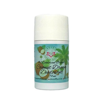 Organic Fields of Heather Coconut Dream Organic & Natural Deodorant With Botanically Infused Ingredients, 2.5 fl. Oz