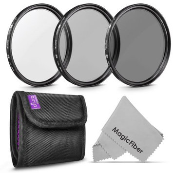 49mm Altura Photo Professional Photography Filter Kit (UV, CPL Polarizer, Neutral Density ND4) for Camera Lens with a 49mm Filter Thread + Filter Pouch
