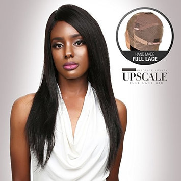 UpScale 100% Virgin Glueless Remi Human Hair Hand Made Unprocessed Brazilian Human Full Lace Wig Natural Straight 150% Density NATURAL Color 20
