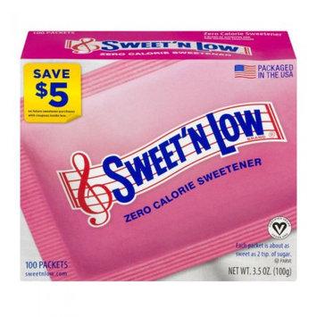 Sweet N Low Sweet 'N Low Zero Calorie Sweetener, 100 CT (Pack of 2)