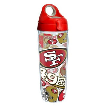 Tervis NFL San Francisco 49ers All Over 24oz Water Bottle with lid