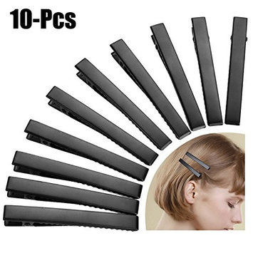 Fascigirl 10PCS Hair Clips Solid Color Alloy Alligator Clips Hair Pins Hair Accessories for Women Ladies Girls