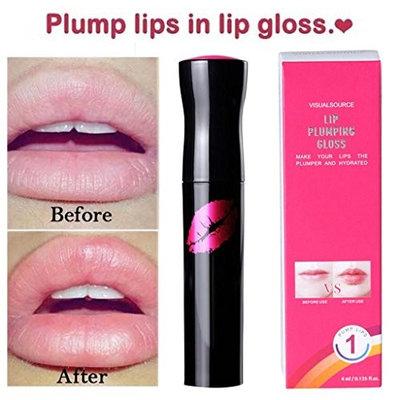 Lip Plumper Gloss, Fuller Lip Enhancer Lipstick Waterproof Matte Long-Lasting Plump Lip Gloss
