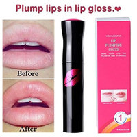 Lip Plumper Gloss, Fuller Lip Enhancer Lipstick Waterproof Matte Long-Lasting Plump Lip Gloss
