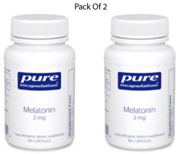 Pure Encapsulations - Melatonin 3mg; Melatonin nutritionally augments the natural functioning of the pineal gland