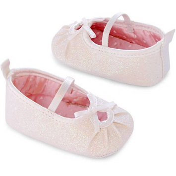 Child of Mine by Carter's Newborn Baby Girl Sparkle Mary Jane Flats, 0-3M