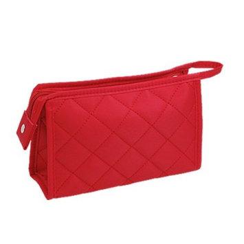 Make Up Cosmetics Toiletries Thick Mini Hand Bag Red