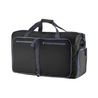 Wakeman 14.5 in. Black Folding Overnight Duffel Bag