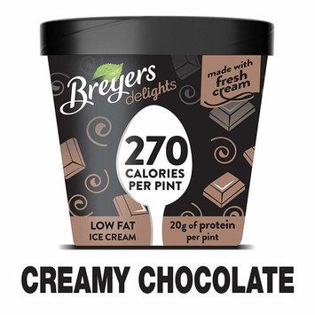 Breyers Delights Creamy Chocolate Low Fat Ice Cream 16 oz